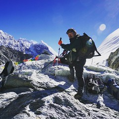 going though #CholaPass #Nepal #trekking #mountains #snow #icetrekking