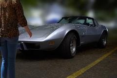 She Likes It (swong95765) Tags: corvette vette woman female lady like admire car sportscar power sleek silver