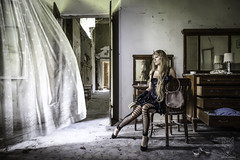 Stuck in the moment (Miha Krapez) Tags: abandoned castle castello stuck inamiment cannon photography nice beautifull girl moment