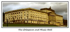 The Colosseum and Music Hall (Oul Gundog) Tags: belfast colosseum music hall stormont northern ireland politics ulster orange green yellow