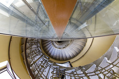 Reflected (CoolMcFlash) Tags: architecture stairs staircase reflection swirl spiral building canon eos 60d sigma 10mm fisheye wideangle vienna symmetry symmetrie symmetrisch geometry geometrie architektur stufen treppenhaus treppfen spiegelung reflektion spirale gebäude indoors innenaufnahme fischauge weitwinkel wien pov pointofview blickwinkel fotografie photography