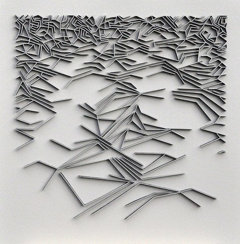 Herman Coppus papierrelief 50x50cm