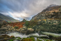 The Valley (Einir Wyn) Tags: landscape light water river sky clouds nikon northwales snowdonianationalpark mountains colour color outdoor rocks rugged uk britain