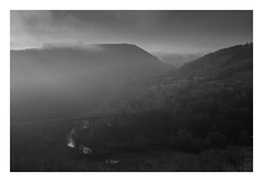 Monsal Dale - 261116 FRAMED (simonknightphotography) Tags: derbyshire peak district national landscape viaduct bridge railway cloud inversion bakewell