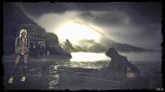 Where Dark And Light Don't Differ (alexandra wardark) Tags: darkness jungle lake creepy secondlife sl saariysqualitypictures