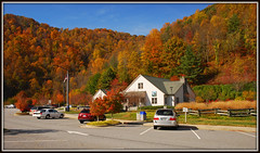 North Carolina Welcome Center - Explore #296 (Jerry Jaynes) Tags: tennesseevirginia northcarolina nc fallcolor colorseasoni26 welcomecenter mountains restarea cars building leaves tennessee virginia tennesseevirginia041edcf explore nikkor1685vr