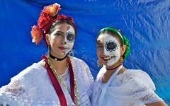 JKN©-16-N70-11,121 (John Nakata) Tags: calvarycatholiccemetery dancers diadelosmuertos lacalaveracatrina sanjose