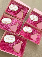 Bridesmaids Cookie Collection (Relznik) Tags: bridesmaid cookies cookie favor favour dress royalicing piping