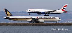 Boeing 777s at SFO (320-ROC) Tags: singaporeairlines britishairways speedbird 9vswp gymmj boeing777 boeing777200 boeing777300 boeing777200er boeing777300er boeing777236er boeing777312er boeing 777 777200 777300 777200er 777300er 777236er 777312er b772 b77w ksfo sfo sanfranciscointernationalairport sanfranciscoairport sanfrancisco