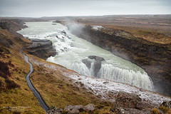 Gullfoss in the rain (The Autodidact Photographer) Tags: 5dmk2 canon cataract continent dslr eos5dmkii europa europe europedunord foto fotografering goldenfalls gullfoss iceland island kamera kontinent norden nordeuropa nordiccountries northerneurope paysnordiques photo photography southernregion tiered waterfall