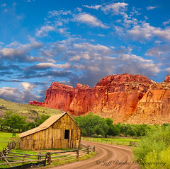 Capital Reef (Jeff Banke) Tags: cliffs clouds cloudy coniferous cumulus desert eroded erosion forest geological hilltop historical iconic kolob landscape mountainous nationalpark natural outdoor panorama picturesque pine scenic stratified summer tourism travel tree treelined utah zion