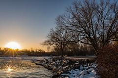 Slush and the warming rays of light (_Matt_T_) Tags: 40creek dawn winter fortycreek smcpda15mmf40edal 394 wideangle
