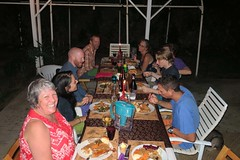 Thanksgiving dinner with the South Kona Physical Therapy crew, 2016 (BarryFackler) Tags: thanksgiving thanksgivingday2016 thanksgivingday holiday westhawaii bigisland kona polynesia tropical hawaii hawaiicounty 2016 sandwichislands hawaiianislands southkonaphysicaltherapy skpt friends carport dinner dining betty bettyfackler bettybowen food turkey wine candles chairs stuffing vegetables potatoes yams barryfackler barronfackler thanksgivingdinner supper
