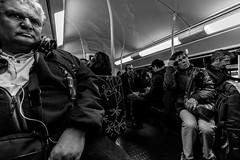 IMG_0850 (Lens a Lot) Tags: paris | 2016 canon efs 1018mm f4556 is stm metro subway people ultra wide angle lens black white blackandwhite street photography streetphotography noir et blanc monochrome abstrait gomtrique lignes structure infrastructure diagonale profondeur de champ train horizon