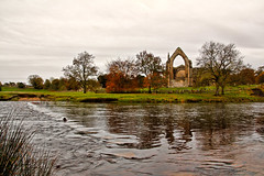 Bolton Abbey Priory (Angela Weatherall) Tags: boltonabbey bolton abbey priory autumn river stepping stones strid wood tree trees leaves