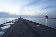 St. Joseph After the Sunset (DJ Wolfman) Tags: stjoseph lighthouse michigan swmichigan lakemichigan lake sunset still quiet olympus olympusomd em5ii zuiko 1240mmf28 1240mmf28olympus micro43