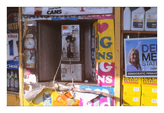 (Michael Raymond Lund) Tags: film slide e6 color photography brooklyn new york city nyc pay phone urban