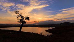 End of the day... (RKAMARI) Tags: 2016 ankara colour lake landscape outdoor rural silhouette sky sunset travel tree water ~effect ~photography