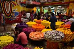 Flower market (kailas bhopi) Tags: flower market nikond5100 1855mm colours vibrantcolours bangalore light lowlight highiso huge street streetphotography
