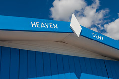 Heaven Sent (justingreen19) Tags: beachhuts england essex frinton good goodluck heavensent waltononthenaze beaches beachfront blessed blessing blue clouds font fortunate fromthegods godsend huts justingreen19 lettering lines luck lucky miraculous opportunity paint painted religious seaside sky typeface wood woodenhuts coast coastal holiday