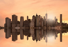 manhattan skyline (poludziber1) Tags: manhattan ny nyc newyork city colorful cityscape color clouds sky skyline sunset sea orange travel streetphotography landscap america architecture challengeyouwinner cyunanimous friendlychallenges matchpointwinner mpt632