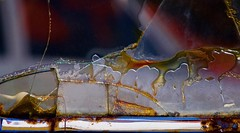 Abstract (StephenReed) Tags: abstract art abstractart glass safetyglass chrome rust window car cracked broken colorful nikond3300 stephenreed