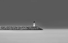 The Lighthouse (Alex Apostolopoulos) Tags: blackandwhite lighthouse longexposure fineart seascape monochrome beacon cyprus sony sonya6000 ilce6000 haida ndfilter manfrottobefree sigmae60mmf28dnart sigma
