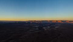 Golden hour chasing the blue hour away. (KeithRembisz) Tags: green river overlook canyonlands moab utah ptgui nodal ninja 50mm18g