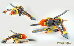 VVasp Viper views (TFDesigns!) Tags: lego space spaceship venusian viper nnovvember fly fighter alien