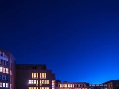 Early start. Number 2. (judydeanclasen) Tags: sunrise lightedwindows windowshot buildings düsseldorf earlymorning