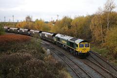 Freightliner 66596 on 6F29 Ferrybridge to Fiddlers Ferry at Arpley Jn. (Tug60044) Tags: freightliner 665 66596 ferrybridge fiddlers ferry 6f29 coal hha flhh wcml warrington arpley junction train british fuels