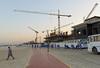 Construction site (Francisco Anzola) Tags: dubai uae unitedarabemirates beach jumeirahbeach jumeira jumeriah cranes construction workers