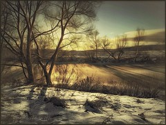 Winter on the river Protva. (odinvadim) Tags: textured textures iphone editmaster travel iphoneography sunset evening iphoneonly painterly artist snapseed landscape specialist iphoneart graphic painterlymobileart winter