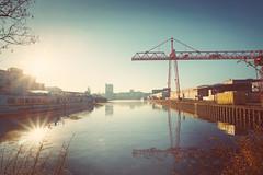Harbourview Dortmund-Ems-Kanal  (Christian Passi - Steher82) Tags: hafenblick hafen dortmund kran crane vsco sun sonne wasser water schiff boot harbourview nature natur outdoor contrast hafenviertel wasserlauf