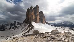 Tre Cime (haelio) Tags: camerasonya7r fultrawide sixteenbynine fwide italy dolomites tre cime self portrait mountains alps snow high