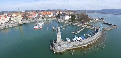 View from the lighthouse to the harbour, 31.03.2012.