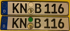 KONSTANZ 2018 ---PASSENGER PLATE PAIR (woody1778a) Tags: germany deutschland licenseplate numberplate registrationplate mycollection myhobby alpca1778 woody1778 europe europa