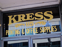Kress Building, Spartanburg, SC (Robby Virus) Tags: spartanburg southcarolina printing office supplies window kress sh building architecture commercial department store five dime historic