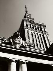 Stalin Palace of Culture (Darek Drapala) Tags: old city blackandwhite bw building history architecture buildings blackwhite poland polska panasonic warsaw warszawa comunism panasonicg2