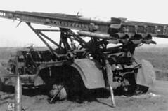 A destroyed Soviet K rocket system