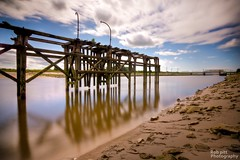 Old Landing Stage On The River Dee At Low Tide (Rob Pitt) Tags: old longexposure river stage tide low quay tokina landing dee shotton on the 1116 connahs at nd1000