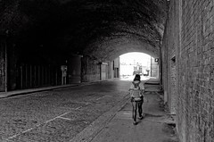 Into the Light (Mac McCreery) Tags: city blackandwhite girl birmingham pentax viaduct birminghamuk digbeth tamron1750