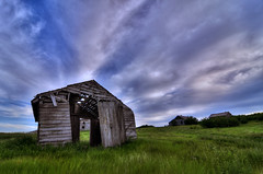 The old homestead (Len Langevin) Tags: old canada building abandoned clouds nikon farm tokina alberta derelict 1224 d300s