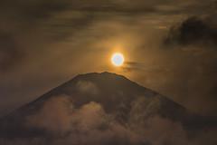 Sunset over Mt. Fuji (KG_2011) Tags: sunset sky sun silhouette clouds canon sundown      mtfuji   eos6d