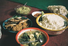 Lunch in Jogja (fisher.victor) Tags: food fish film 35mm indonesia rice sambal