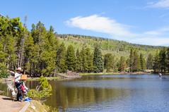 Sprague Lake, Rocky Mountain National Park (www.bhattacherjee.com) Tags: people mountain landscape colorado unitedstates estespark rockymountainnationalpark spraguelake nikond90