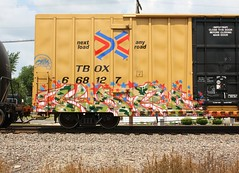Karo (quiet-silence) Tags: railroad art train graffiti railcar boxcar graff karo freight tbox ttx fr8 8hk tbox668127