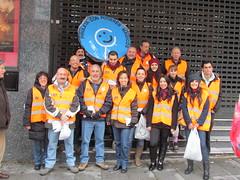 Equipo de voluntarios del Ayuntamiento de Madrid
