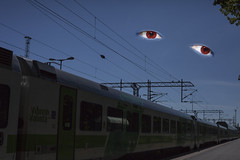 Sleepy Dracula is watching you travel (tkarkkainen) Tags: travel train eyes watching dracula werehere