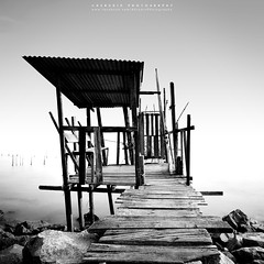 dock (azrudin) Tags: wood travel sky panorama water square photography dock lowlight nikon slow jetty squareformat malaysia minimalist johor longexposures graduatedfilter gnd09 sglurus